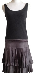 Diane von Furstenberg Silk Ruffled Skirt Sleeveless Dress