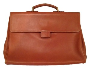 Giorgio Armani Briefcase Laptop Satchel Leather Unisex Laptop Bag