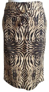 Roberto Cavalli Snakeskin Pencil Skirt Brown animal print