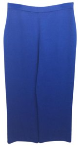 St. John Blue Knit Pants