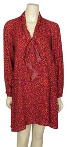 Ann Taylor LOFT short dress red, orange, purple and dark brown on Tradesy