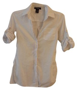 Wet Seal Button Down Shirt White