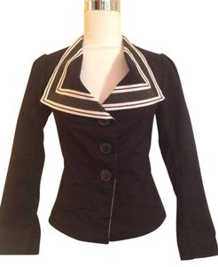 Vivienne Westwood Anglomania Sailor Collar Fitted Structured Steampunk Black and White Jacket