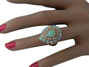 Casbah Mid Century Casbah 18k Opal and Diamond Ring