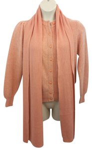 United Colors of Benetton Salmon Knit Cardigan Sweater