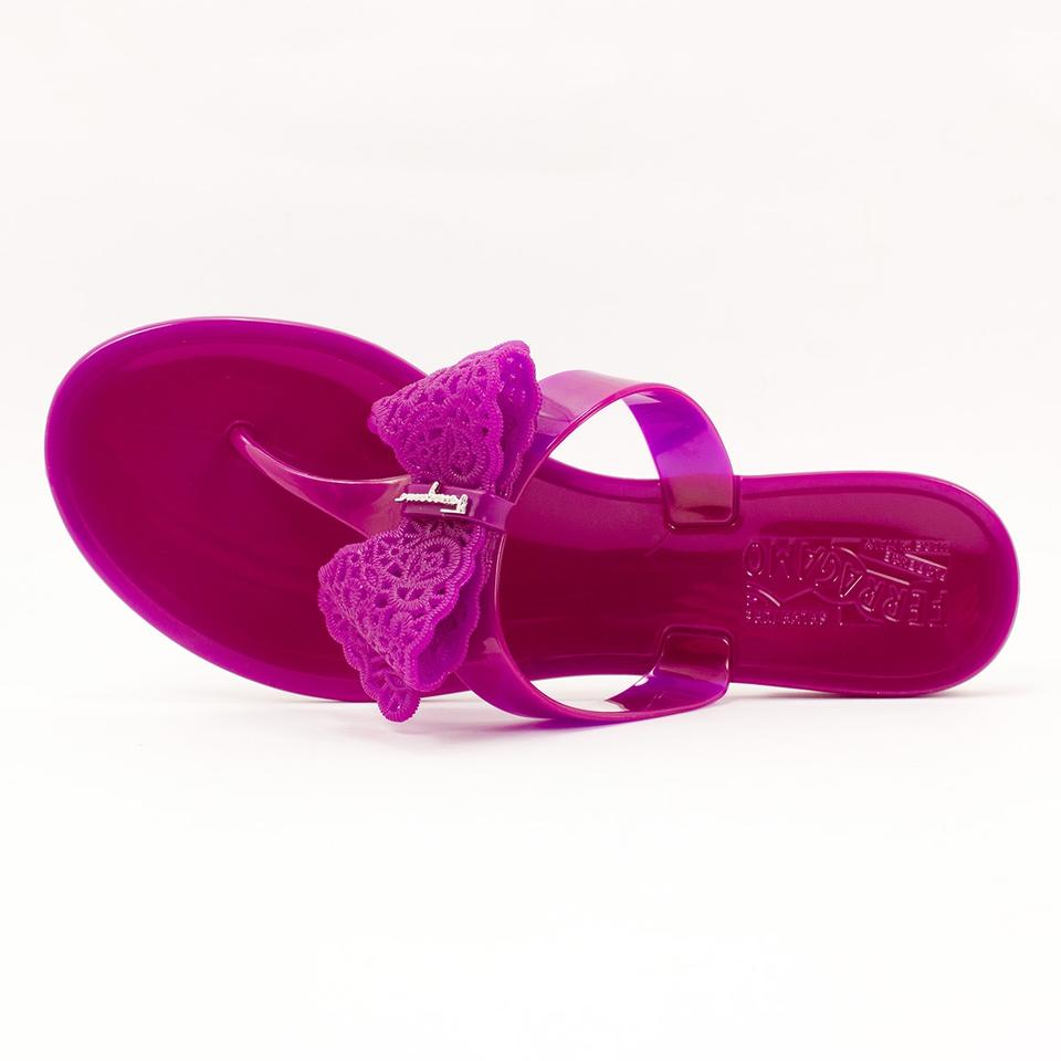 cc33ad16ab8b28 Salvatore Ferragamo Grape Pandy Jelly Thong Flip Flop M Sandals Size ...