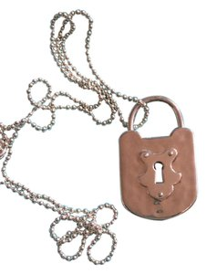 Tiffany & Co. Tiffany & Co. Sterling Lock Charm Pendant Necklace