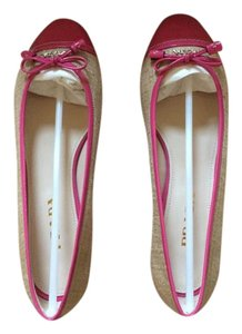Prada Rope and pink canvas cap toe ballet flats Flats