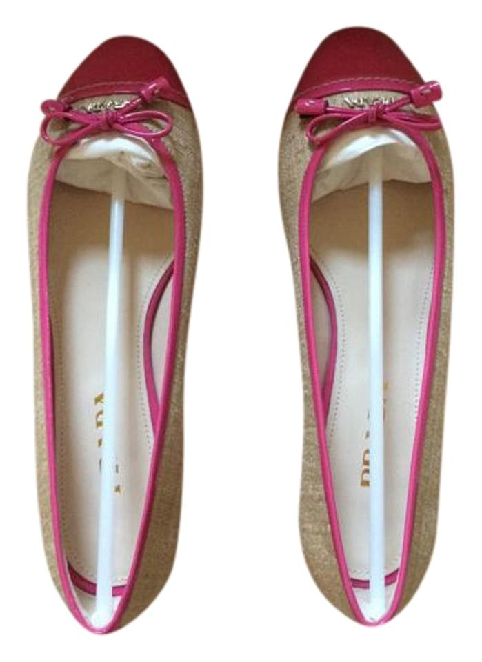 8ba49f3359d Prada Rope and Pink Canvas Cap Toe Ballet Flats Size US 6 - Tradesy
