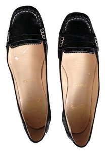 Christian Louboutin Patent Leather Loafer Black Flats