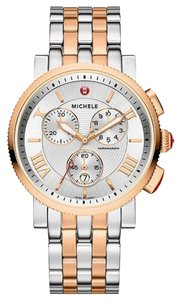 Michele Nwot Michele sport sail two tone rose gold and silver watch