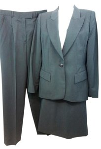 Escada ESCADA MARGARETHA LEY BLACK WOOL BLEND 3-PC. SKIRT PANT SUIT 38