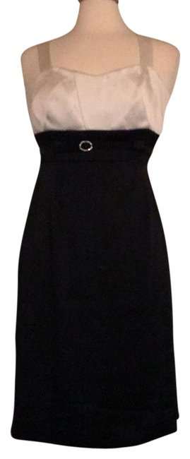 Preload https://item3.tradesy.com/images/tahari-black-and-white-arthur-s-levine-knee-length-cocktail-dress-size-4-s-182007-0-3.jpg?width=400&height=650