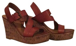 Mossimo Supply Co. Red/Brown Wedges