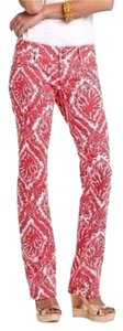Lilly Pulitzer Straight Pants Red / White