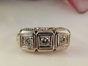 Art Deco 14k Diamond .75 Ctw Filigree Ring