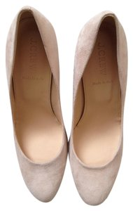 J.Crew Suede Wedge Cream Tan Wedges