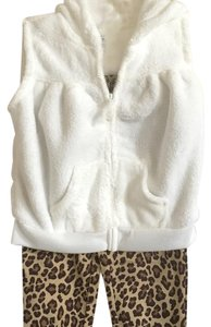 Carter's Infants Hoodie Vest, Bodysuit With Leopard Pants 18M