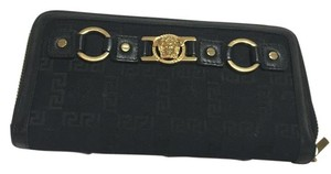 Versace Versace Black Zippy Wallet
