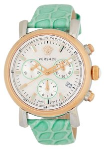 Versace Versace Crocodile Embossed Leather Strap Day Glam Watch VLB120015