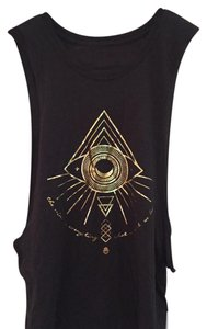 Spiritual Gangster Top Black and gold