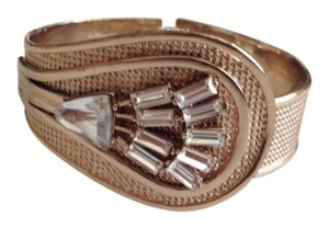 Banana Republic Banana Republic Gold Cuff Bracelet with Rhinestones