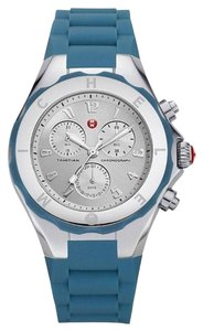 Michele NWT MICHELE Tahitian Jelly Bean Blue Silver Watch (rare model)