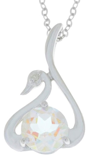 Preload https://img-static.tradesy.com/item/18203134/mercury-mist-mystic-topaz-and-diamond-swan-pendant-925-sterling-silver-necklace-0-1-540-540.jpg
