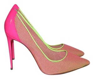 Christian Louboutin Pink Mesh Lace Pumps