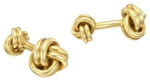 Elizabeth Jewelry 14Kt Rose Gold Plated Knot Cufflinks
