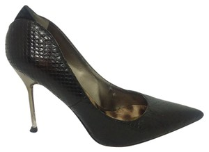 Sam Edelman Leather Stiletto Black Pumps
