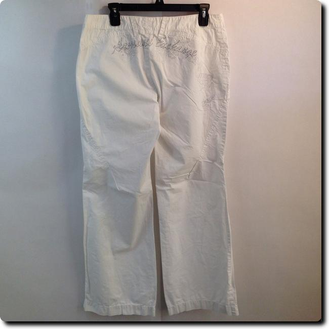 A|X Armani Exchange Embroidered Straight Pants white Image 1