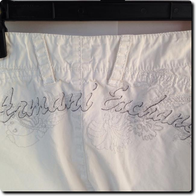 A|X Armani Exchange Embroidered Straight Pants white Image 2