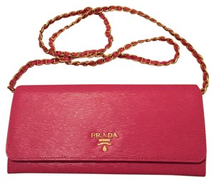 Prada Marmo (pristine) Saffiano Leather Clutch Wallet On Chain - WOC