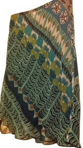 Wrapper Tribal Stretch All Season Vintage Design Elastic Waist Black Greens Edgy Artsy Ethnic Knee Length Summer 6 Small Ikat Skirt blues