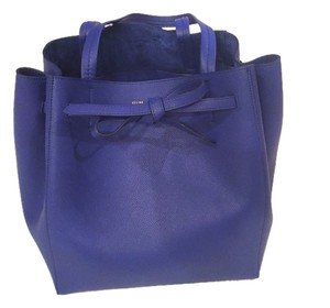 Céline Calfskin Leather Cabas Phantom Cabas Phantom Medium New Tote in Blue