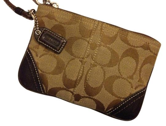 Coach Wristlet in Khaki/Brown