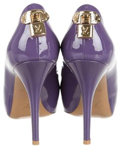 Louis Vuitton Oh Really Lv Lock Peep Toe Purple Pumps