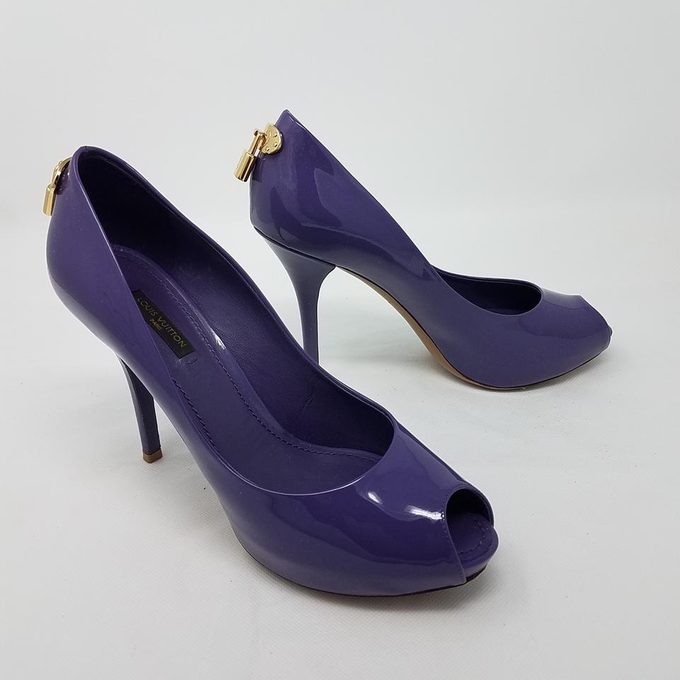 9a035afd839f Louis Vuitton Purple Patent Leather Oh Really Peep-toe Pumps Size EU 38  (Approx. US 8) Regular (M