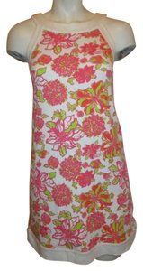 Lilly Pulitzer short dress white, pink, lime & orange print Girls on Tradesy