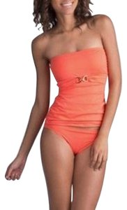 Michael Kors Michael Kors Bandeau Tankini Top + Bottom Hot Coral Small