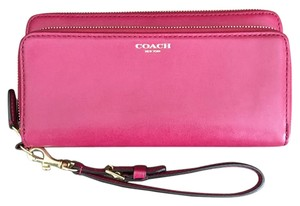 Coach Wristlet in Deep Pink/Red