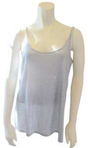 Vince Sequin Sleeveless Top Silver