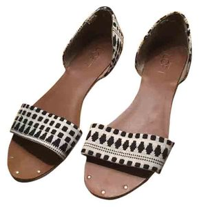 Ann Taylor LOFT Black / white Sandals
