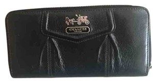 Coach Coach Leather Monogram Logo Wallet