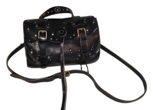 Ralph Lauren Studded Leather Distressed Cross Body Bag