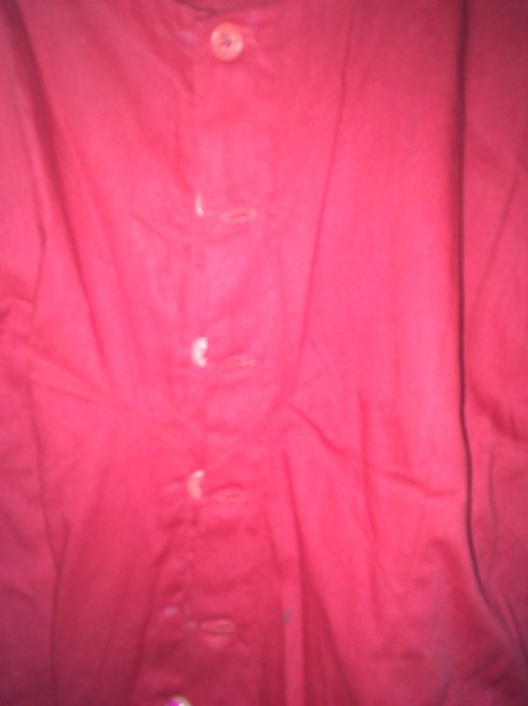 Other Cotton Crop Button Down Shirt Red Image 1