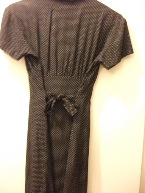 black Maxi Dress by Dawn Joy Vintage Polka/Dot Mid-lenght