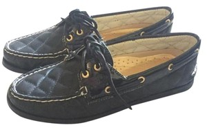 Sperry Quilted Leather Black Flats