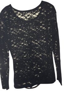 Very Moda Sheer Top Black Lace
